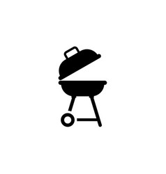 bbq barbecue flat icon vector image