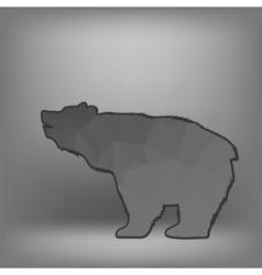 Bear Polygonal Silhouette vector