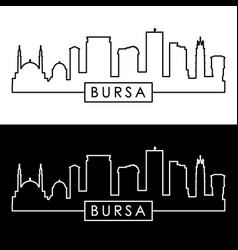 bursa skyline linear style editable file vector image