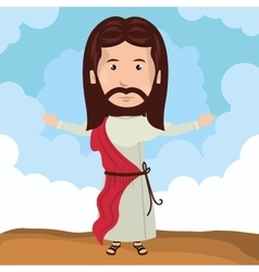cartoon Jesus christ bless design vector image