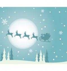 Christmas background with Santa vector image
