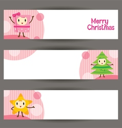 Christmas Ornaments Character Design Banner vector image