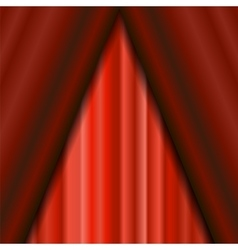 Cinema Closed Red Curtain vector