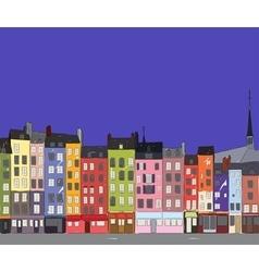 Cityscape Honfleur vector