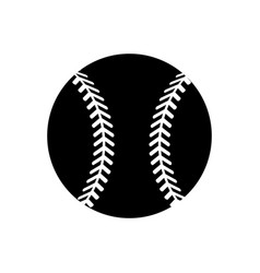 Contour ball to play baseballl icon vector