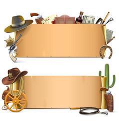 Cowboy Scrolls vector