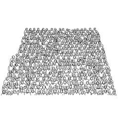 crowd people on stadium sketch vector image