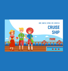 cruise liner ship travel banner web design vector image
