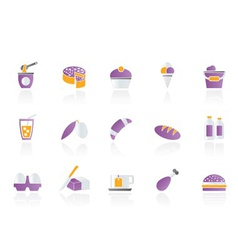 dairy products - food and drink icons vector image