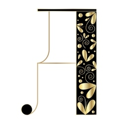 Decorative letter shape A vector image vector image