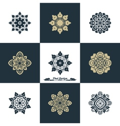 Design Luxury Template Set Swash Elements Art Vint vector image