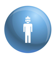 dictator man icon simple style vector image
