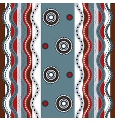 Ethnic boho seamless pattern Colorful border vector