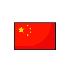 flag of china red fabric with five yellow stars vector image