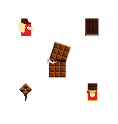 Flat icon chocolate set of delicious chocolate vector
