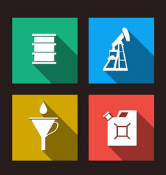 Fuel set icons vector