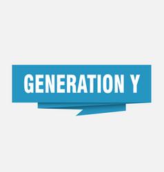 Generation y vector