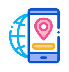 geolocation icon outline vector image
