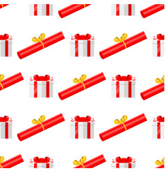 gift boxes pack composition event greeting vector image vector image