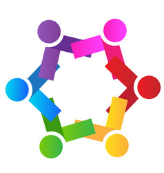 group team people unity logo vector image