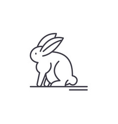 hare line icon concept hare linear vector image