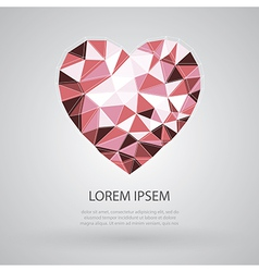 Heart triangle shape vector