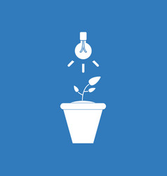 Icon plant and light vector
