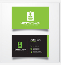 Id card icon business card template vector