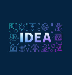 idea creative colorful design vector image