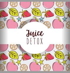 Juice detox background vector