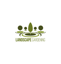 landscape gardening emblem vector image