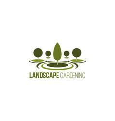 landscpe gardening emblem vector image