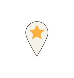 location line icon pin sign map pointer vector image