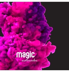 Magic watercolor swirling ink in water vector image