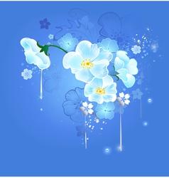 Magic white flowers vector