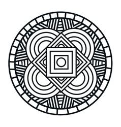 Mandala art isolated icon vector