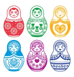Matryoshka Russian doll design vector