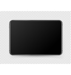modern black tablet pc with blank screen object vector image