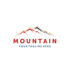mountain logo elegant mountain logo design vector image