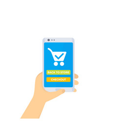 Online order and purchase mobile shopping vector