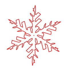 outline grunge snowflake vector image