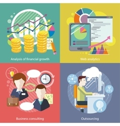 Outsourcing Web Analytics Analysis Financial vector image