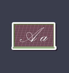 Paper sticker on stylish background blackboard vector