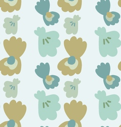 Pearl in the seashell seamless pattern vector image