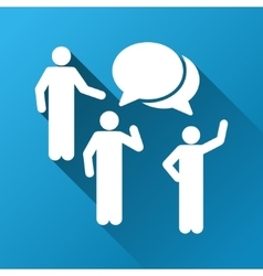 People Forum Gradient Square Icon vector