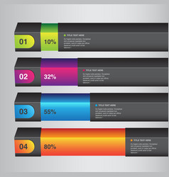 Percentage infographic bars vector