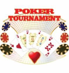 Poker tournament vector