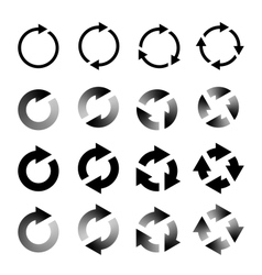 Rotating Arrows Set Refresh Reload Recycle vector image