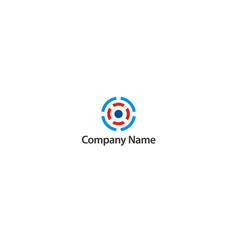 round target abstract company logo vector image
