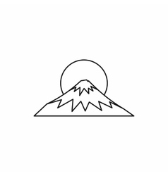 Sacred symbol of Japan Fuji icon outline style vector